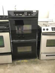 "Kitchen-Aid Superba 28"" Black Double Oven"