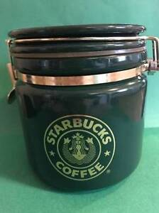 Dark Green Starbucks Coffee Canister/Jar