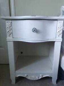 Girls white French provincial side dresser