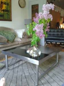 AMAZING INDUSTRIAL STAINLESS STEEL COFFEE TABLE