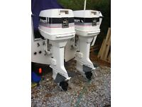 Johnson 140hp x 2 outboards