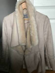 White Fur Coat Bershka