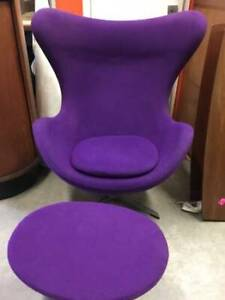 MID CENTURY MODERN EGG CHAIR - Live In Retro!