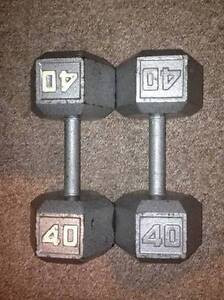 Two 40lbs Dumbbell's for sale - $75