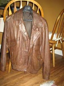 Men's Suit and Leather Jacket