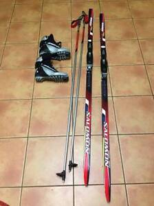 Skate skis, bindings, boots (women's 7), poles - excellent condi