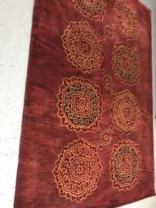 Red wool area rugs (new)