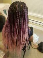 Affordable Box braids, Weaves, Cornrows, Crochet braids