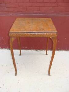 Solid Oak Queen Ann Style End Table
