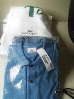 NEW LACOSTE Short Sleeve Original Heathered Pique Polo - Size 8