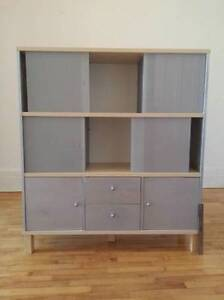 Ikea Display Cabinet w/frosted glass doors