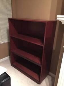 Solid Wood Book Shelf / Case Brown Red Mahogany