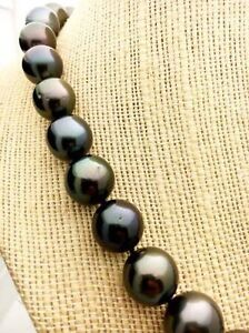 BEAUTIFUL BLACK TAHITIAN PEARL NECKLACE Downtown-West End Greater Vancouver Area image 5