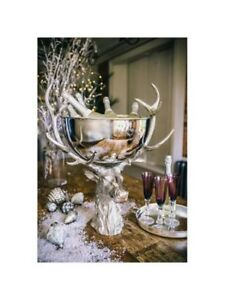 NEW - Stag Head ice bucket / punch bowl decor - Christmas