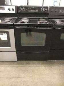 GE Black Electric Coil Stove 30'