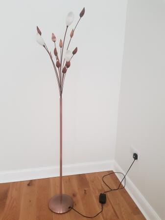 next copper leaf effect floor lamp standing light with With leaf floor lamp chocolate bronze effect