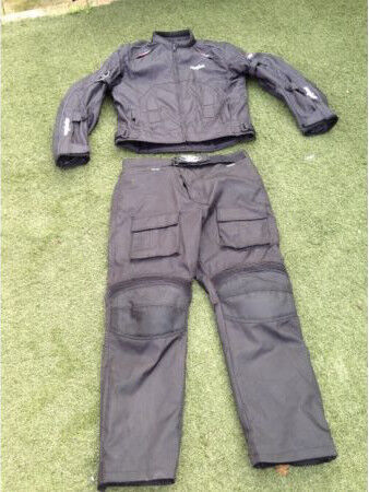 MB motorbike waterproof suit with armour and warm inner