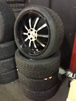 """USED - 20"""" TSW Willow Wheels Staggered + NEW TIRES G35 350Z Must"""