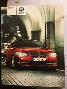 BMW E90, E92, E93 3 Series Owners Manual with OEM Leather Wallet