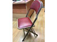Vintage events chairs- 100 available. Cinema, conference, cafe, events excellent space saving design