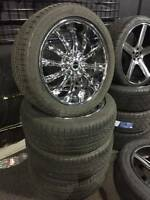 """22"""" New Chrome Wheels & Used tires! 6x139 Chevy Truck & SUV STRA"""