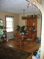 Pine Diningroom table and Hutch set