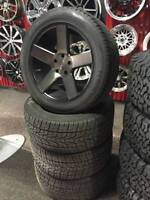"""USED - 20"""" DUB BALLER WHEELS DDT WITH TIRES 80% JEEP GRAND CHERO"""