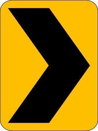 Lyle W1-8-18Ha Traffic Sign,24 X 18In,Bk/Yel,Sym,W1-8