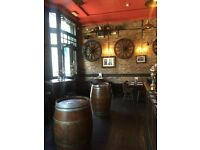 Bar Staff required for a Gastro Pub in Barbican / Clerkenwell Area