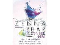 Happy Hour at Zenna Bar on February 23, 2017