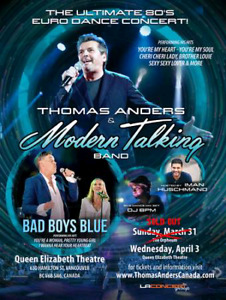 Modern talking featuring bad boys blue concert