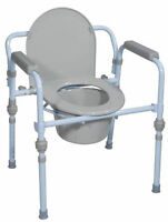 Drive Folding 3 In 1 Steel Commode
