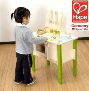 NEW HAPE WOODEN PLAY KITCHEN E8010 232618875 MY CREATIVE COOKERY CLUB KIDS