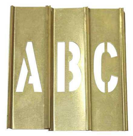 Zoro Select 20Y510 Stencil Set,Letters, Punctuation,Brass
