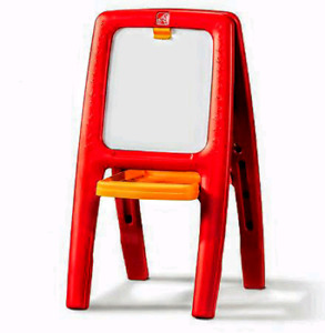 2-sided drawing easel, 2 Chairs