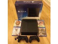 Sony PS4 with 4 games