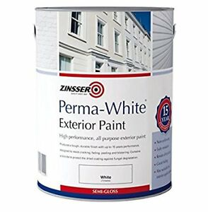 WANTED WHITE SEMI GLOSS EXTERIOR PAINT.