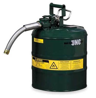 Justrite 7250430 5 Gal. Green Steel Type Ii Safety Can For Oil