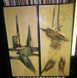 Several R. PARRET SIGNED ABSTRACT EXPRESSIONISM ART OIL PAINTING West Island Greater Montréal image 8