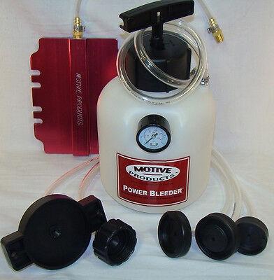 Motive Products Pressure Power Brake Bleeder Universal PRO Kit & XLT Adapter - Power Bleeder Adapter