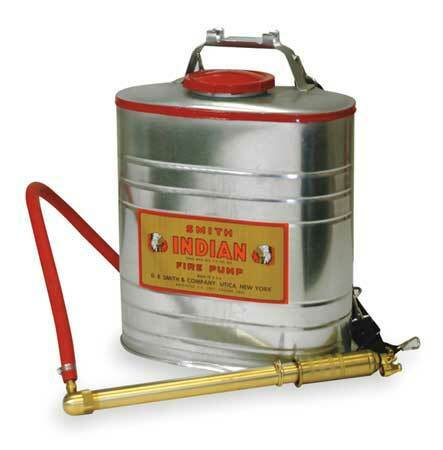"""Indian 179014-1 5 Gal. Fire Pump With Smith Pump, Galvanized Steel Tank, 30"""""""