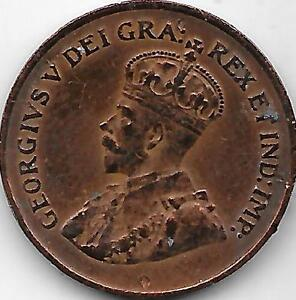 small cent can.1920 Saint-Hyacinthe Québec image 2