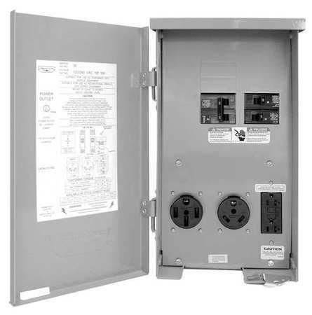 Connecticut-Electric Cesmpsc75grhr Outdoor Power Outlet,120/240V,80A