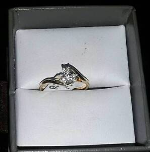 Diamond Ring 14k Gold $125