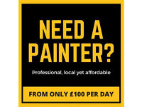 Professional Painters & Decorators from ONLY £100 P/D