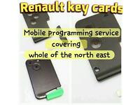 Renault key card replacements fully programmed to your car. megane scenic clio laguna espace
