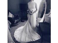High neckline like Pippa Middleton's wedding dress, original 1960s, recently worn.