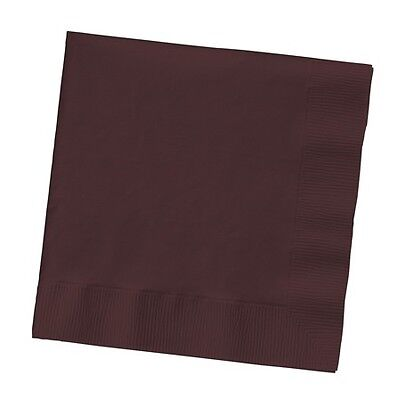 - 50 PLAIN chocolate brown lunch/dinner napkins, wedding/party Large Size Square