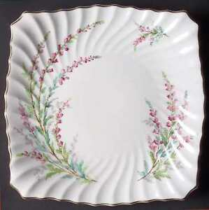 "VINTAGE ROYAL DOULTON ""BELL HEATHER"" SQUARE CAKE PLATE"