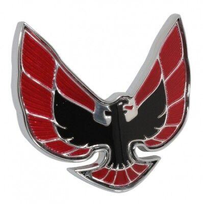 Front Nose Emblem (74-76 Firebird Front Nose Header Emblem Red Black)